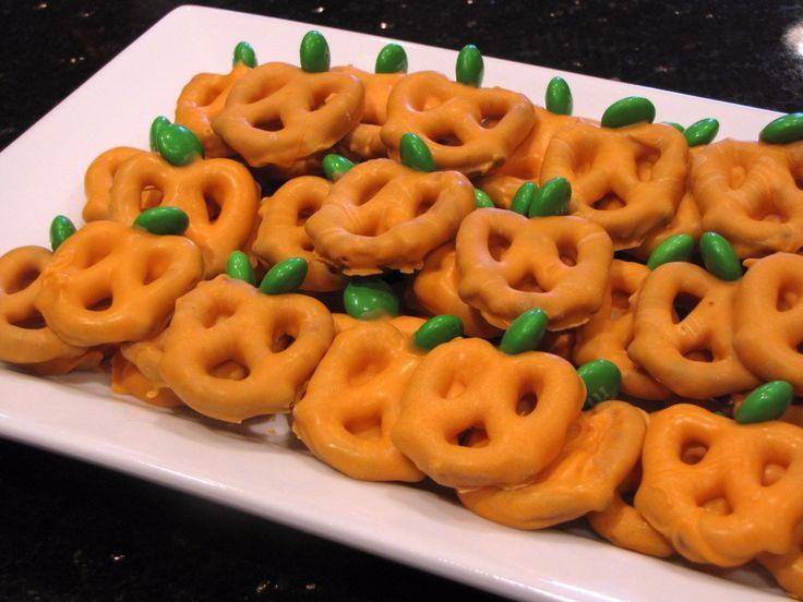 How To Make Pretzel Pumpkins