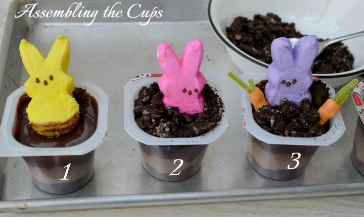 How To Make Peeps Pudding Cups